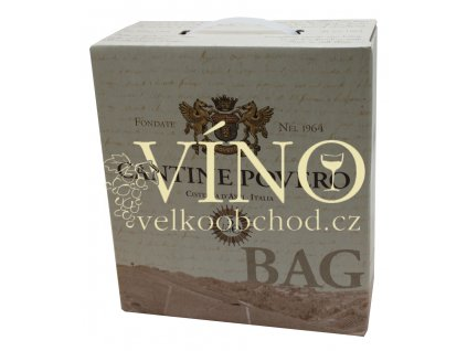 Povero Chardonnay 5 l Bag in Box suché italské bílé víno