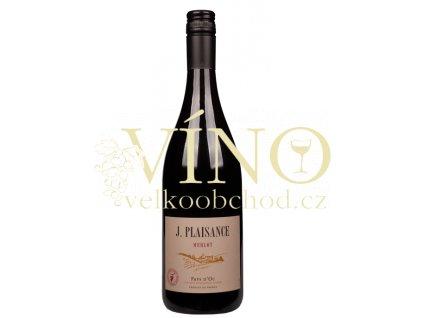 J. Plaisance Merlot  0,75 L suché francouzské červené víno