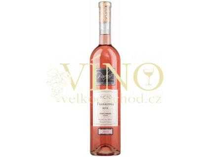 Víno Frankovka Pavlov Exclusive výběr z hroznů růžové polosuché 2018 0,75 l Vinofol Novosedly