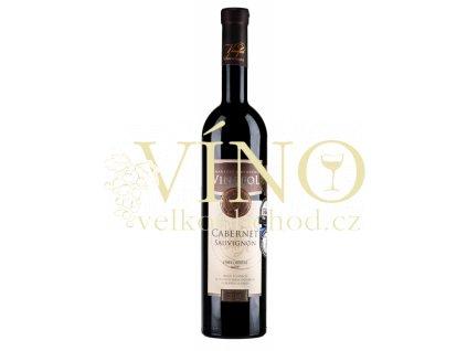 Víno Cabernet Sauvignon TOP výběr z hroznů červené suché 2016 0,75 l Vinofol Novosedly