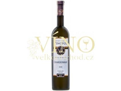 Víno Chardonnay Family Collection výběr z hroznů suché 2015 0,75 l Vinofol Novosedly