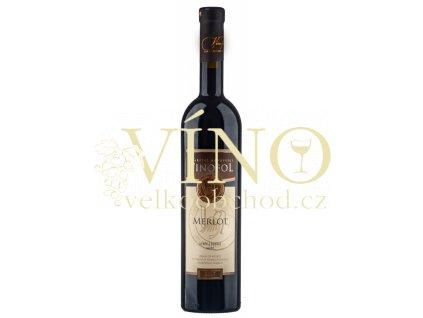 Víno Merlot TOP výběr z hroznů suché 2017 0,75 l Vinofol Novosedly