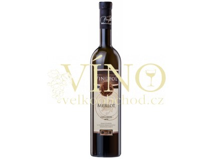 Víno Merlot TOP výběr z hroznů suché 2015 0,75 l Vinofol Novosedly