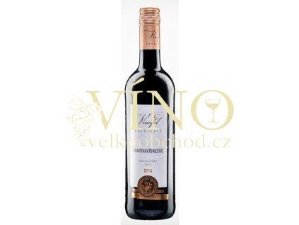 Víno Svatovavřinecké jakostní suché 2016 0,75 l Vinofol Novosedly