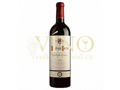 Chateau Rozier Grand Cru 2014 0,75 l francouzské červené víno z Bordeaux, Saint-Émilion