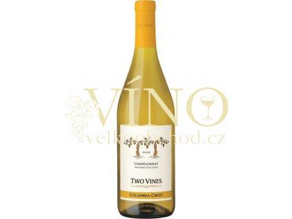 Columbia Crest Two Vines Unoaked Chardonnay americké bílé víno z oblasti Washington State