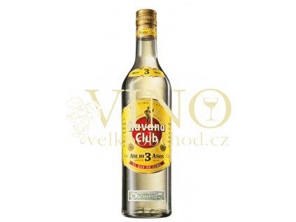 Havana Club 3 Aňos 1 L 40% 3 YO kubánský bílý rum