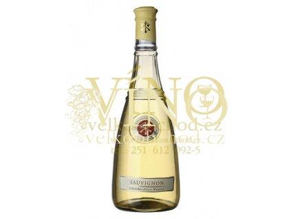 Terezianské sklepy Sauvignon jakostní odrůdové víno bílé suché - Vinařská oblast Morava