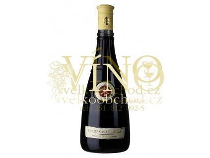 Terezianské sklepy Modrý Portugal Terezianské Modrý Portugal jakostní odrůdové víno červené suché - Vinařská oblast Morava