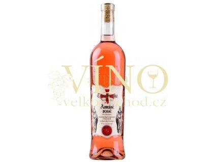 Templářské sklepy André Rosé, jakostní polosladké víno 0,75 l