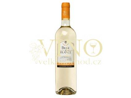 Víno Brise de France Muscat 0,75 l polosladké francouzské bílé