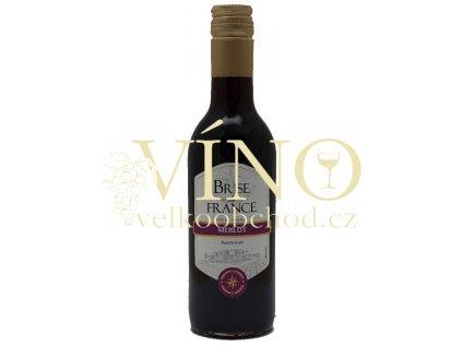 Víno Brise de France Merlot 0,25 l suché francouzské červené