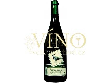Víno - Vinicius Zámecká Frankovka suchá 1,00 l (původně Čejkovická Frankovka)