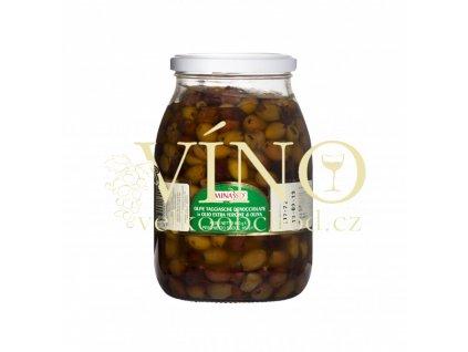 olive nere taggiasche denocciolate in olio 900g