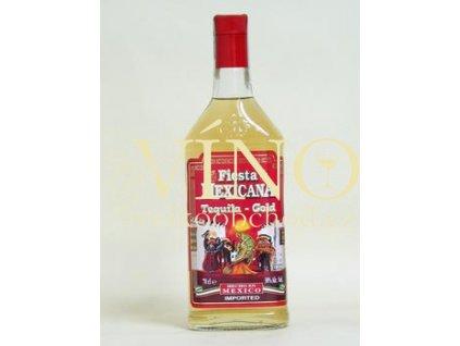 Pere Charles Fiesta zlatá tequila 0,7L 38% destilát z agáve