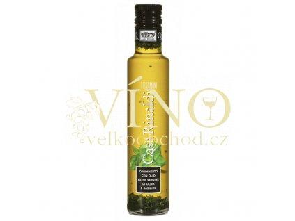 condimento con olio extra vergine di oliva e basilico 250ml