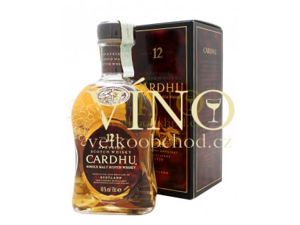 Cardhu 12 Years Old Speyside 0,7 l 40%, single malt whisky + kartonek