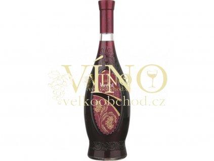 2467 aurvin flowers merlot medium sweet 0 75 l moldavske cervene polosladke vino