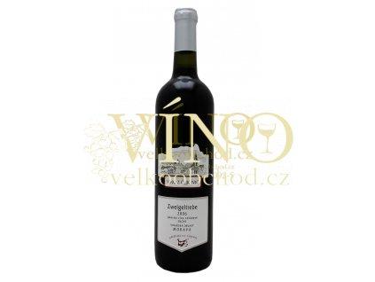 Zemědělská a.s. Čejkovice Zweigeltrebe 0,75 L jakostní moravské červené víno