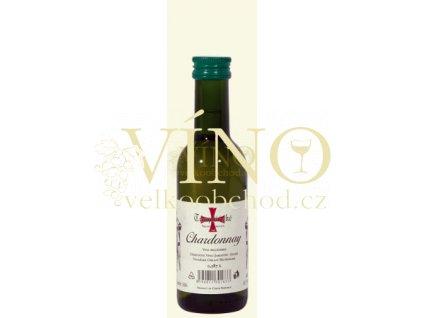 Templářské sklepy Mini Chardonnay jakostní 0,187 l suché moravské bílé víno