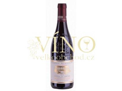 Château Beauchene Grande Réserve 0,75 L suché francouzské červené víno z Cotes du Rhone