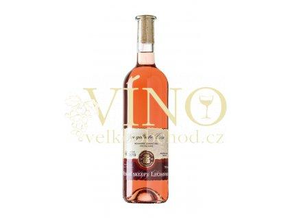 Znovín Znojmo Zweigeltrebe rosé moravské zemské víno 2019 Vinné sklepy Lechovice