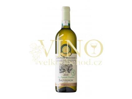 Znovín Znojmo Víno originální certifikace Sauvignon VOC Znojmo 2018