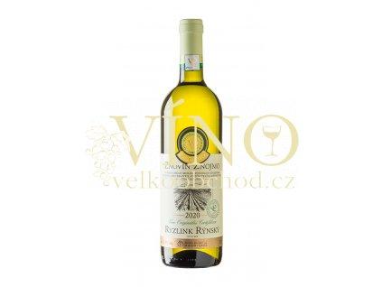 Znovín Znojmo Víno originální certifikace Ryzlink rýnský VOC Znojmo 2020