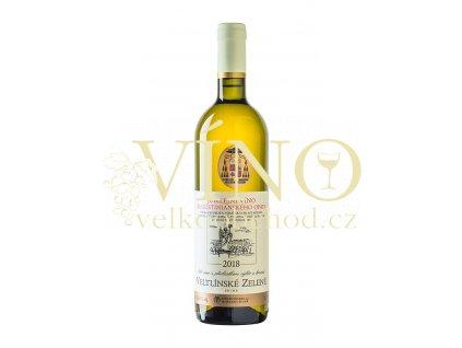 Znovín Znojmo Jubilejní víno Augustiniánského opata Veltlínské zelené výběr z hroznů 2018