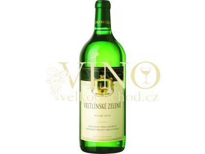 Víno - Víno Mikulov Veltlínské zelené jakostní 1l