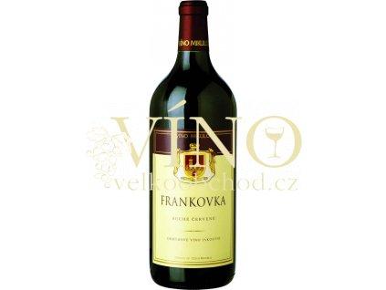 Víno - Víno Mikulov Frankovka jakostní 1l