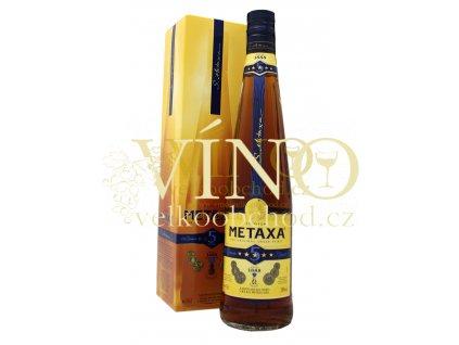 Metaxa  5* 0.7 l 38 % v dárkové krabičce
