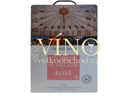 Marrenon bag in box 5 l VdP růžové francouzské víno v BIB