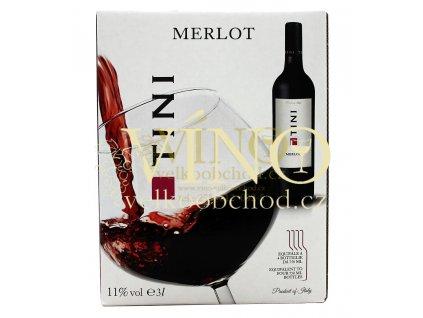 Akce ihned Tini Merlot BIB 3 l italské červené víno bag in box