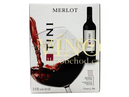 Tini Merlot BIB 3 l italské červené víno bag in box