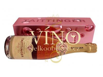 Akce ihned Champagne Taittinger Brut Rosé Prestige 0,75 l in giftbox