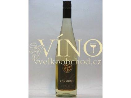 Schmitt Sohne Liebfraumilch Miss QbA 0,75 L polosladké německé bílé víno z Rheinhessen