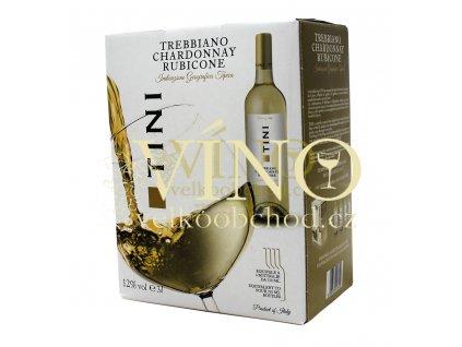 Akce ihned víno Tini Trebbiano Chardonnay Rubicone I.G.T. 3 l suché italské bílé bag in box BIB