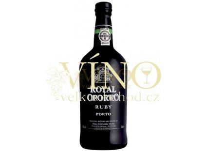 Royal Oporto Ruby 0,75 l polosuché červené portské víno z Douro