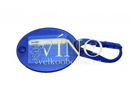 LABEL visačka na zavazadlo, transparentní modrá