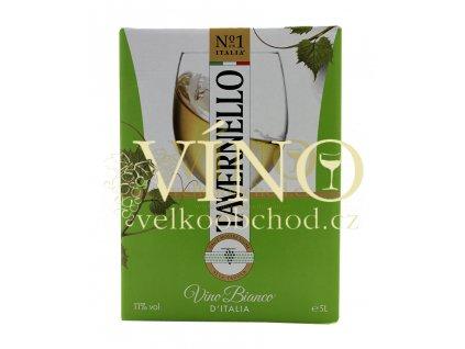 Tavernello Bianco 5l Bag in Box suché italské bílé víno