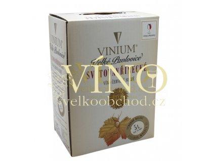 Víno - BIB Svatovavřinecké 5 l Vinium