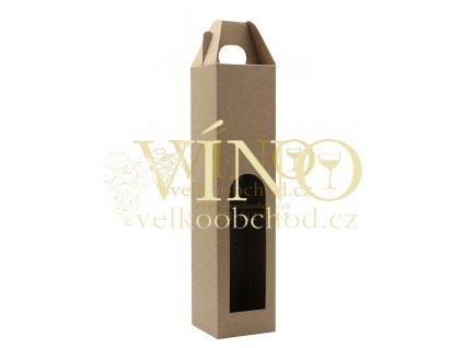 Kartonová krabička PROMO na víno 1 láhev 0,75l přírodní
