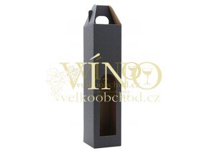 Kartonová krabička PROMO na víno 1 láhev 0,75l modrá