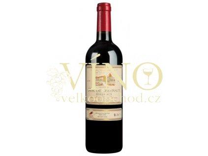 Château Roc de Levraut Rouge AOC 0,75 L suché francouzské červené víno z Bordeaux