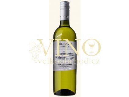 Mikrosvín Mikulov Standard Line Ryzlink rýnský 2013 jakostní 0,75 l suché bílé víno