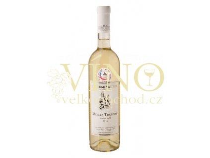 Vinné sklepy Valtice Műller Thurgau 2015 pozdní sběr 0,75 l suché bílé víno
