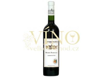 Vinné sklepy Valtice Modrý Portugal kabinetní 2011 suché červené víno