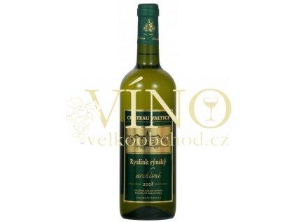 Vinné sklepy Valtice Ryzlink rýnský 2008 archivní bílé suché víno