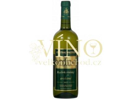 Vinné sklepy Valtice Ryzlink vlašský 2007 archivní suché bílé víno